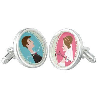 新郎新婦-名前入りな結婚式 カフスボタン