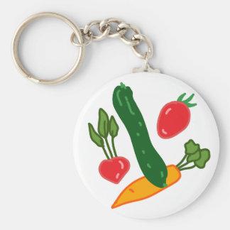 新鮮でおいしい野菜のイラストグッズ Fresh and delicious vegetables o キーホルダー