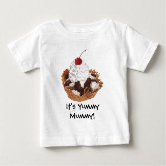新鮮な果物のさくらんぼのデザートの乳児のTシャツ ベビーTシャツ