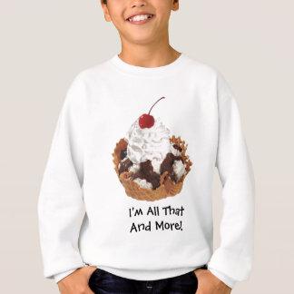 新鮮な果物のさくらんぼのデザートの子供のTシャツ スウェットシャツ