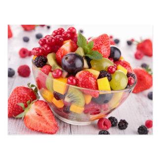 新鮮な果物サラダ ポストカード