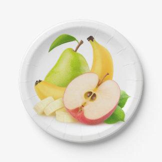 新鮮な果物 ペーパープレート