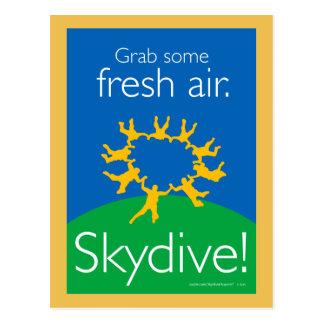 新鮮な空気をつかんで下さい。 Skydive! ポストカード