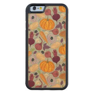 新鮮な野菜からのレトロの背景 CarvedメープルiPhone 6バンパーケース