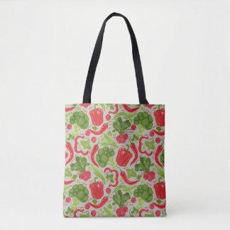 新鮮な野菜からの明るいパターン トートバッグ