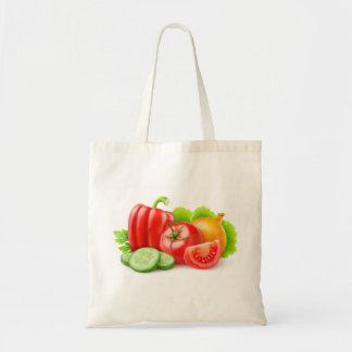 新鮮な野菜 トートバッグ