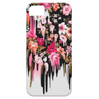 方向転換、溶ける花パターン iPhone SE/5/5s ケース