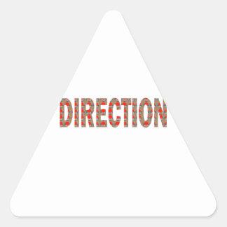方向: ガイドのコーチの顧問のマスターの先生のギフト 三角形シール