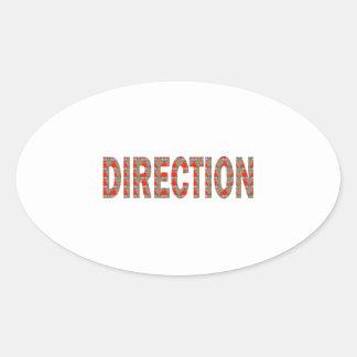 方向: ガイドのコーチの顧問のマスターの先生のギフト 楕円形シール
