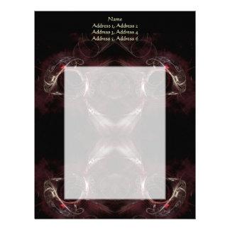 方向、フラクタルの芸術の設計の選択 レターヘッド