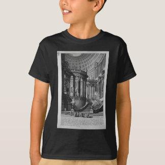 方法で発明され、設計されている古代寺院 Tシャツ