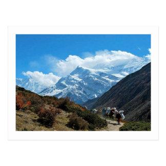 方法のネパールからのエベレストへの眺め ポストカード
