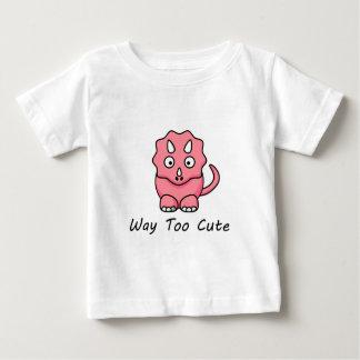 方法余りにかわいい恐竜 ベビーTシャツ