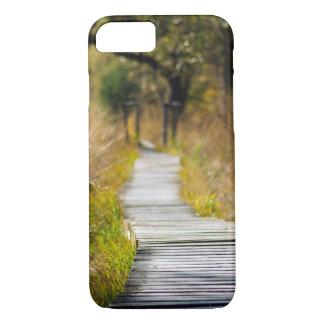 方法前方木製の自然道 iPhone 8/7ケース