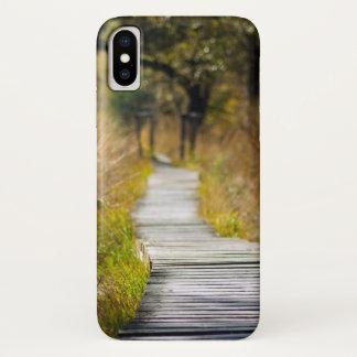 方法前方木製の自然道 iPhone X ケース