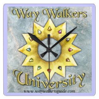方法歩行者: 大学時計 スクエア壁時計