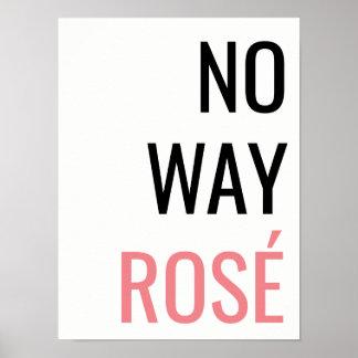 方法ROSÉポスターはっきりしたでモダンな総本店の装飾無し ポスター