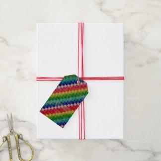 方眼紙の正方形で着色される ギフトタグパック