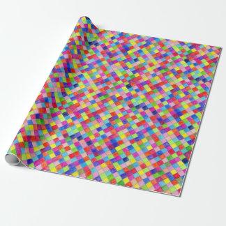 方眼紙の正方形-対角線で着色される ラッピングペーパー