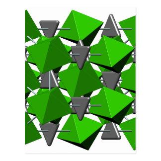 方解石の分子 ポストカード
