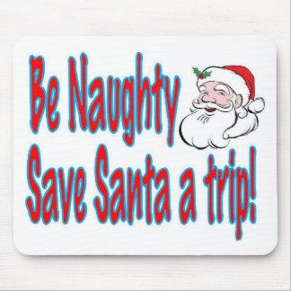 旅行いけない保存サンタがあって下さい マウスパッド