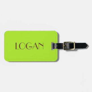 旅行のためのローガンの荷物のラベル ラゲッジタグ