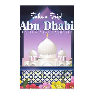 旅行のアブダビのヴィンテージ旅行ポスターを取って下さい キャンバスプリント