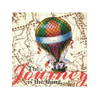 旅行の熱気の気球の(占星術の)十二宮図の背景 キャンバスプリント