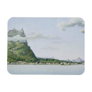 「旅行の自動車からのBora Boraの島の眺め、 マグネット