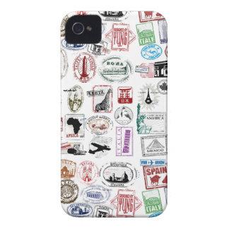 旅行はパターン電話箱を押します Case-Mate iPhone 4 ケース
