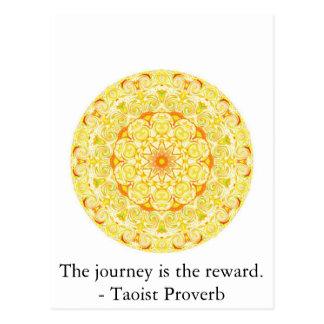 旅行は報酬です。 -道教徒の諺 ポストカード