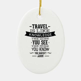 旅行は知識のようです セラミックオーナメント