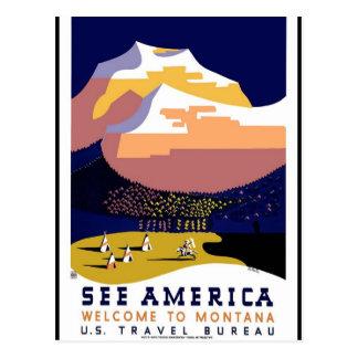 旅行アメリカのプリントのレトロのヴィンテージ旅行 ポストカード