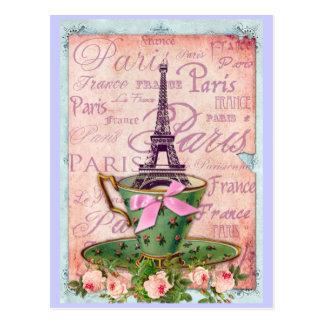 旅行エッフェルのコップ ポストカード