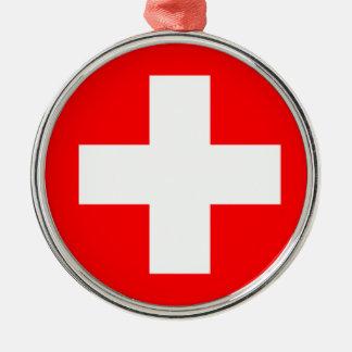 旅行オーナメント-スイス連邦共和国 メタルオーナメント