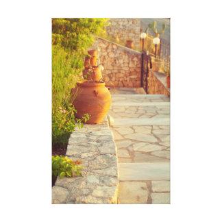 旅行コレクション。 ギリシャ キャンバスプリント
