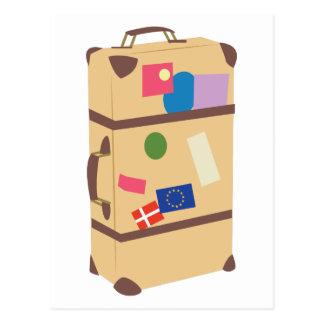 旅行スーツケース ポストカード