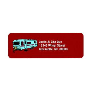旅行トレーラ・キャンプのGlampingのキャンピングカーの宛名ラベル ラベル