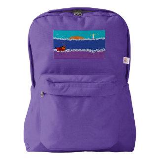 旅行バッグの荷物 AMERICAN APPAREL™バックパック
