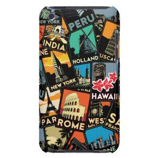 旅行ポスターレトロのヴィンテージヨーロッパアジア米国 Case-Mate iPod TOUCH ケース