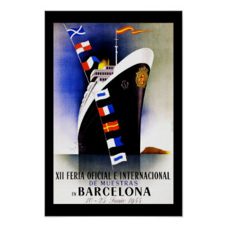 旅行ポスターヴィンテージバルセロナスペイン ポスター