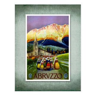旅行ヴィンテージポスターアブルッツォイタリア ポストカード