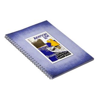 旅行ヴィンテージポスター船旅行 ノートブック