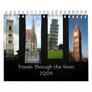 旅行何年にもわたって カレンダー