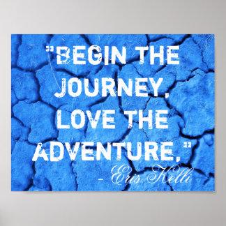 旅行愛を冒険ポスター始めて下さい ポスター