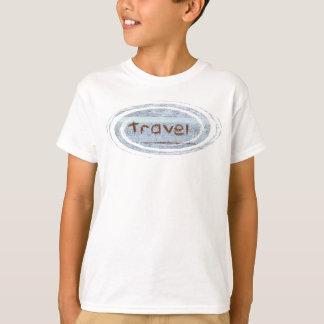 旅行素朴で青いボヘミアのフード付きスウェットシャツのジャンパー Tシャツ