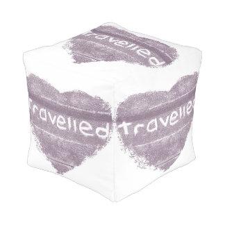 旅行紫色は素朴なボヘミア人移動しました プーフ