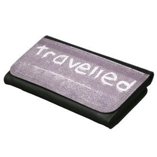 旅行紫色は素朴なボヘミア人移動しました レザーウォレット