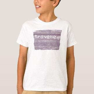 旅行紫色は素朴なボヘミア人移動しました Tシャツ