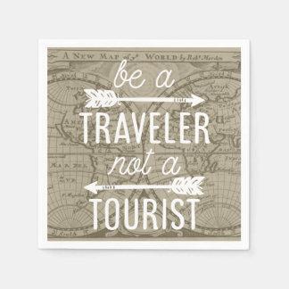 旅行者がない観光客の地図のタイポグラフィの引用文あって下さい スタンダードカクテルナプキン